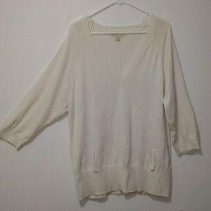Michael Kors light weight sweater cream color
